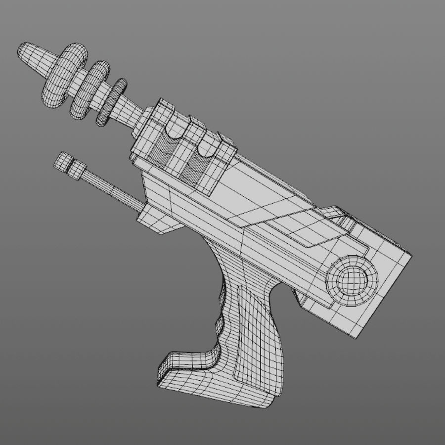 Cartoon Gun royalty-free 3d model - Preview no. 10
