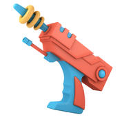 Cartoon Gun 3d model