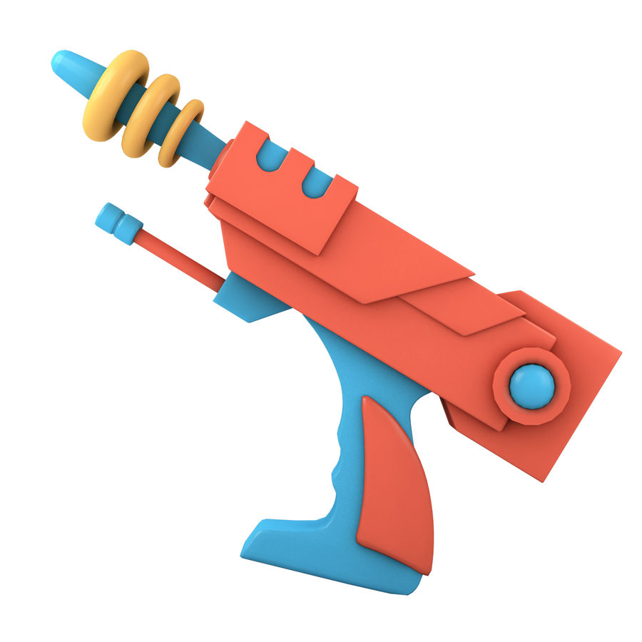 Cartoon Gun royalty-free 3d model - Preview no. 2