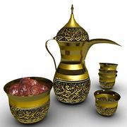 Arabiska kaffedalla 3d model