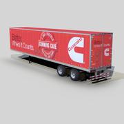 Dry van trailer 48ft s07 3d model