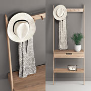 Aalto Wall Rack 3d model