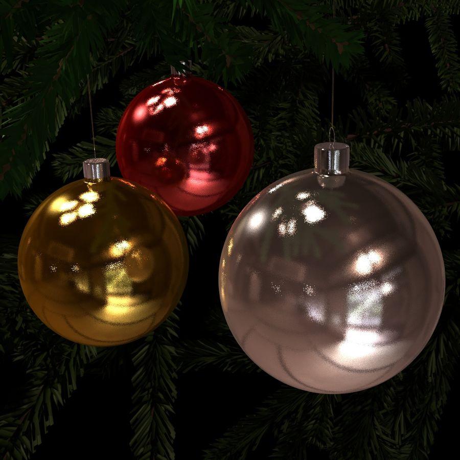 Kerstballen royalty-free 3d model - Preview no. 1