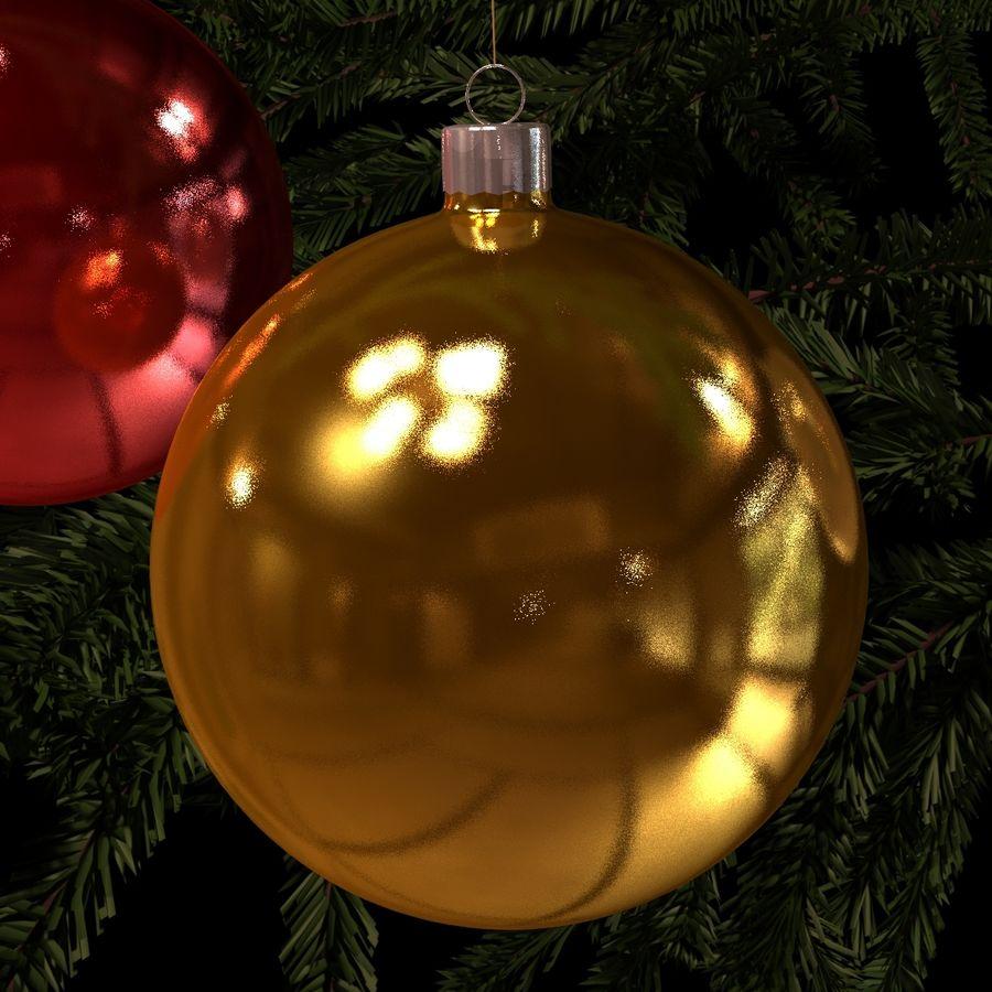 Kerstballen royalty-free 3d model - Preview no. 3
