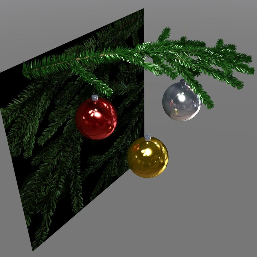 Kerstballen royalty-free 3d model - Preview no. 5