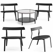 Fåtölj och soffbord Varmer Vittsjo 3d model