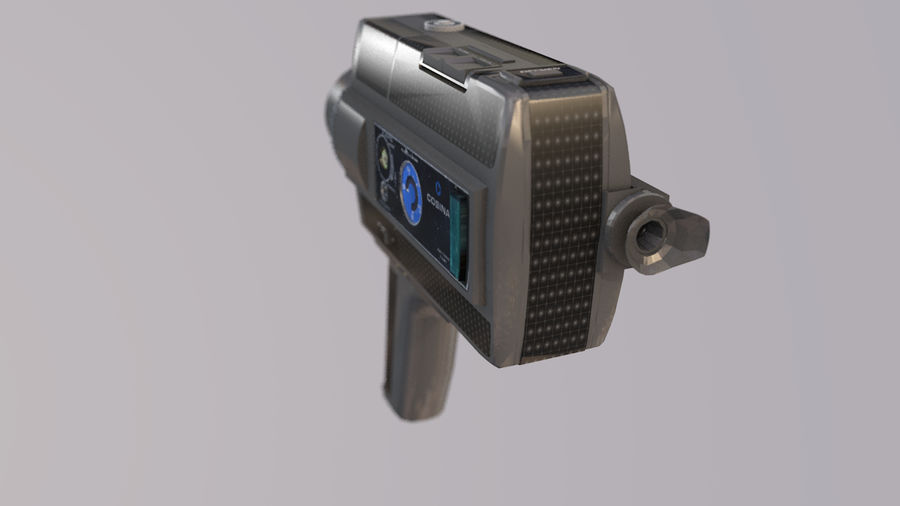 Super 8 Movie Camera royalty-free 3d model - Preview no. 7