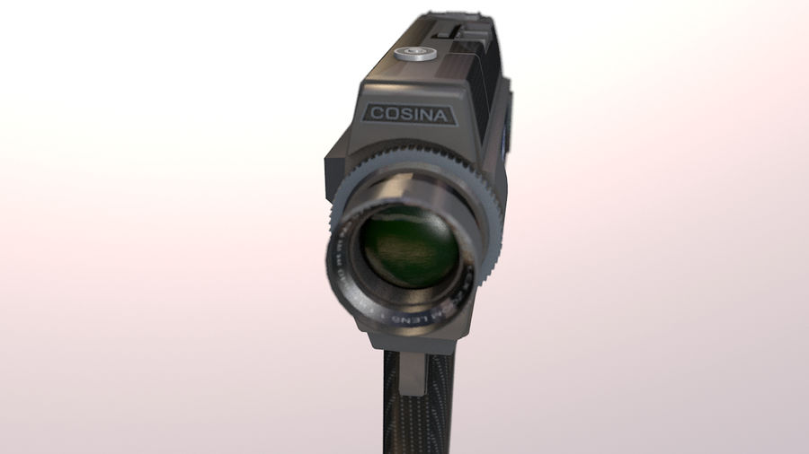 Super 8 Movie Camera royalty-free 3d model - Preview no. 15