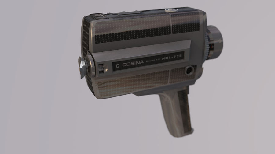 Super 8 Movie Camera royalty-free 3d model - Preview no. 10