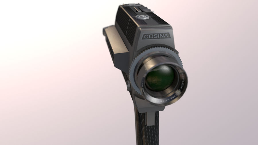 Super 8 Movie Camera royalty-free 3d model - Preview no. 14