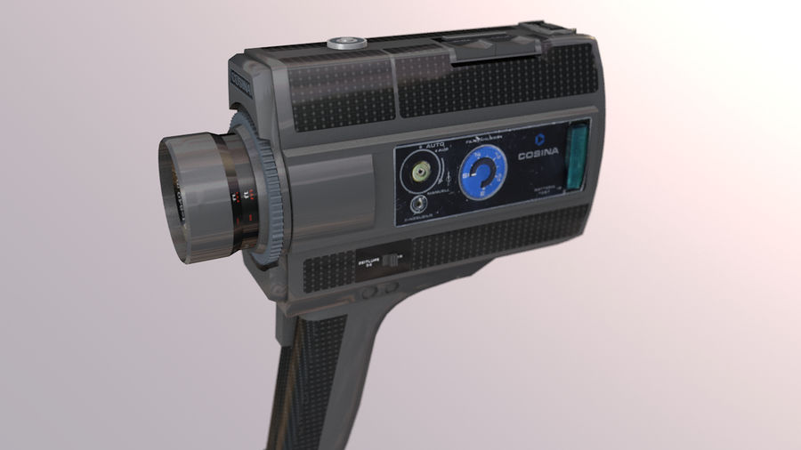 Super 8 Movie Camera royalty-free 3d model - Preview no. 3
