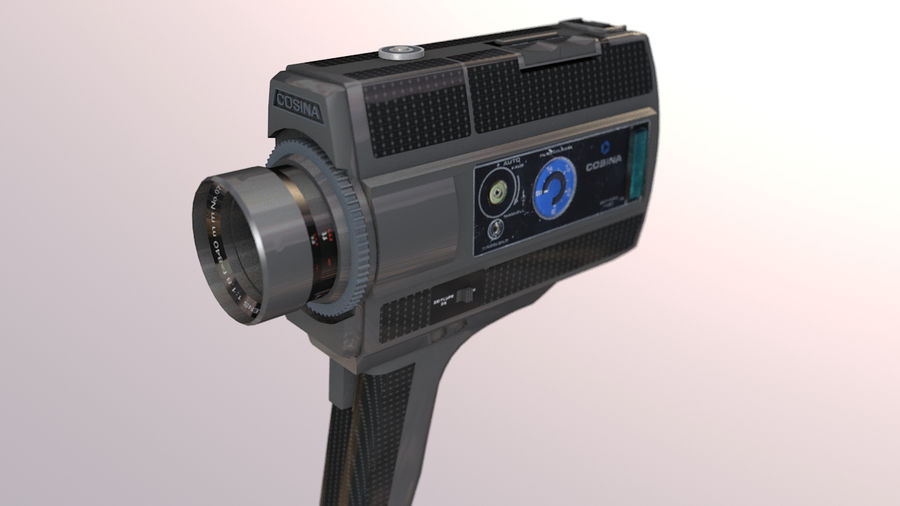 Super 8 Movie Camera royalty-free 3d model - Preview no. 2