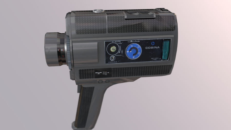 Super 8 Movie Camera royalty-free 3d model - Preview no. 4