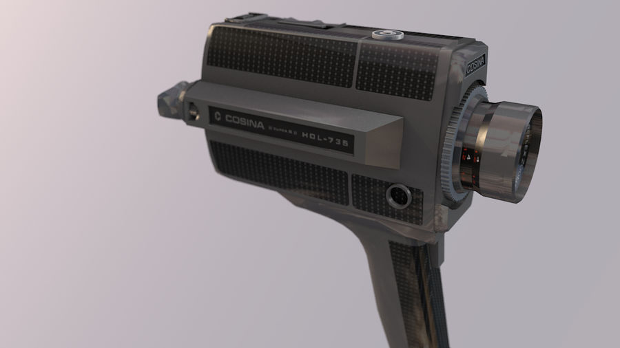 Super 8 Movie Camera royalty-free 3d model - Preview no. 12