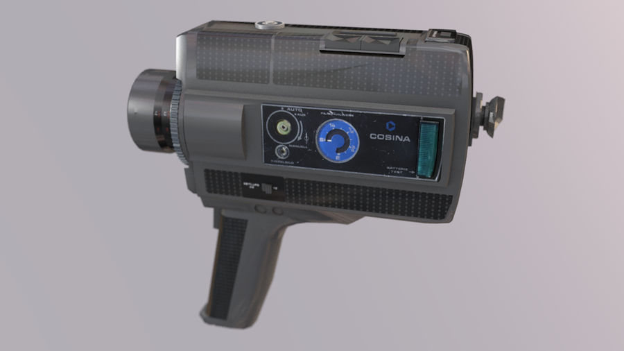 Super 8 Movie Camera royalty-free 3d model - Preview no. 5