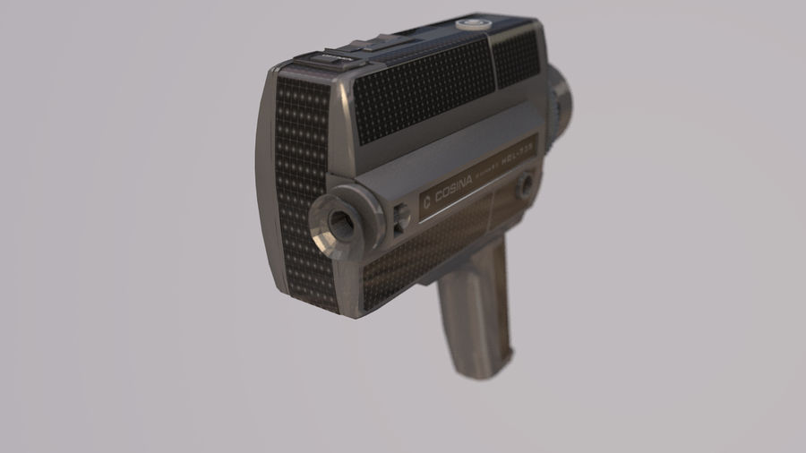 Super 8 Movie Camera royalty-free 3d model - Preview no. 9