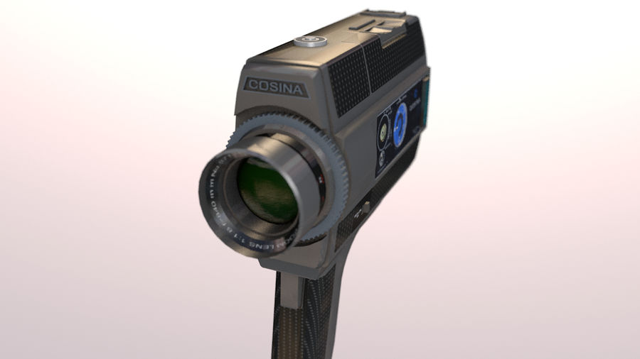 Super 8 Movie Camera royalty-free 3d model - Preview no. 16
