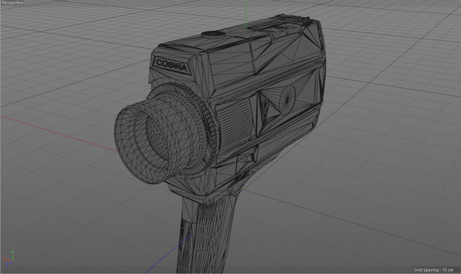 Super 8 Movie Camera royalty-free 3d model - Preview no. 18