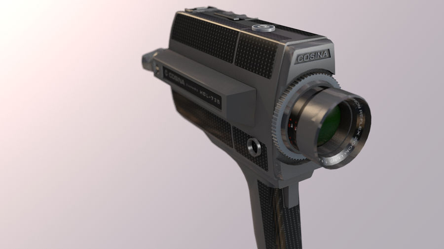 Super 8 Movie Camera royalty-free 3d model - Preview no. 13