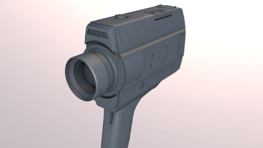 Super 8 Movie Camera royalty-free 3d model - Preview no. 17