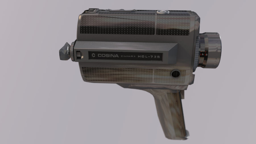 Super 8 Movie Camera royalty-free 3d model - Preview no. 11