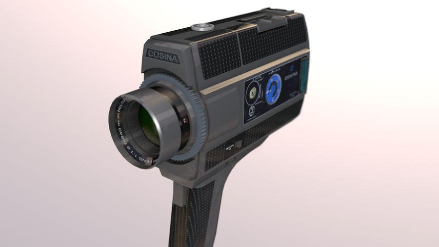 Super 8 Movie Camera royalty-free 3d model - Preview no. 1