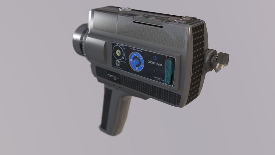 Super 8 Movie Camera royalty-free 3d model - Preview no. 6