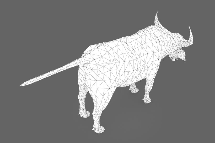 Buffalo typ 01 royalty-free 3d model - Preview no. 11