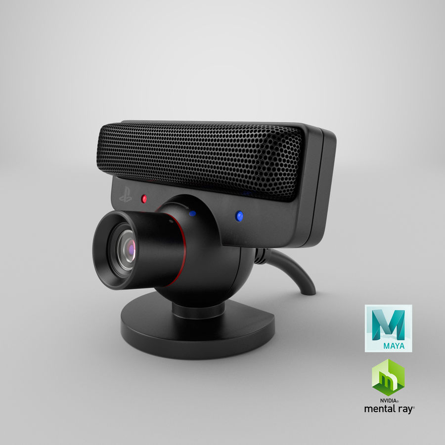 Sony PlayStation 3 Camera Eye royalty-free 3d model - Preview no. 27