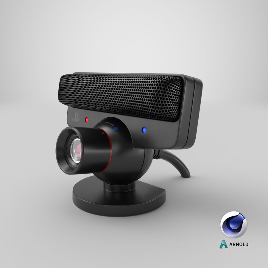 Sony PlayStation 3 Camera Eye royalty-free 3d model - Preview no. 20
