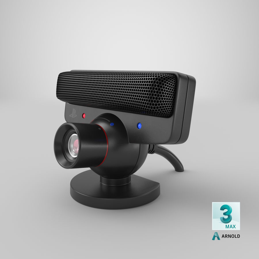 Sony PlayStation 3 Camera Eye royalty-free 3d model - Preview no. 23