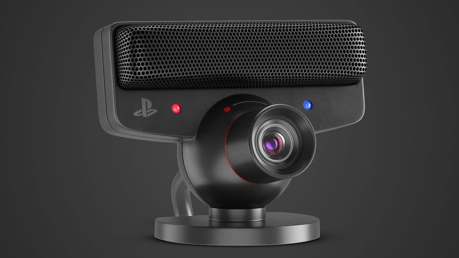 Sony PlayStation 3 Camera Eye royalty-free 3d model - Preview no. 2