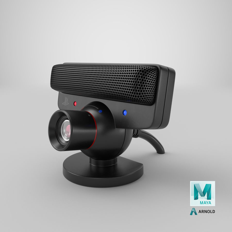 Sony PlayStation 3 Camera Eye royalty-free 3d model - Preview no. 26