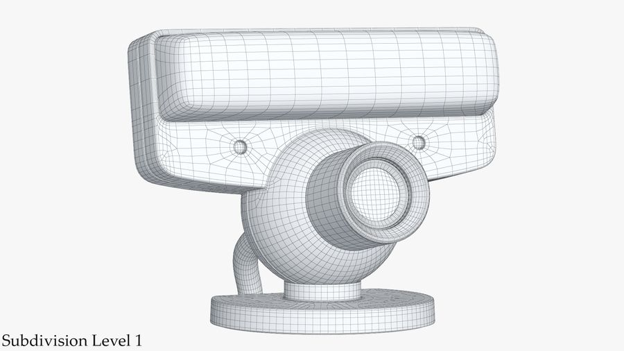 Sony PlayStation 3 Camera Eye royalty-free 3d model - Preview no. 14
