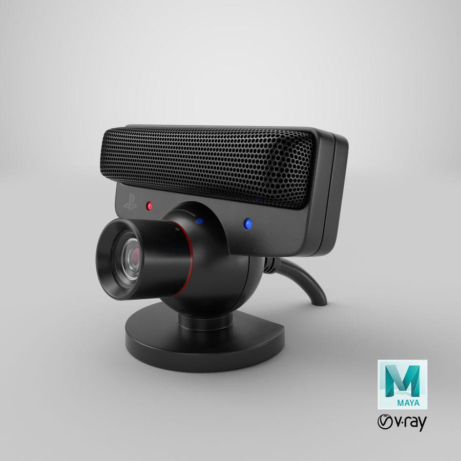 Sony PlayStation 3 Camera Eye royalty-free 3d model - Preview no. 28