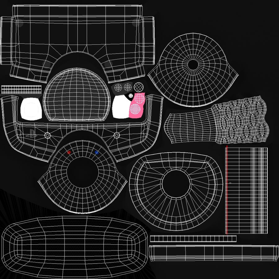 Sony PlayStation 3 Camera Eye royalty-free 3d model - Preview no. 12