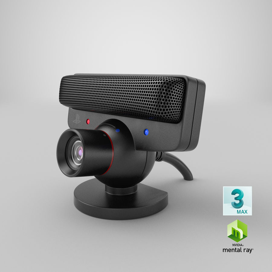 Sony PlayStation 3 Camera Eye royalty-free 3d model - Preview no. 24