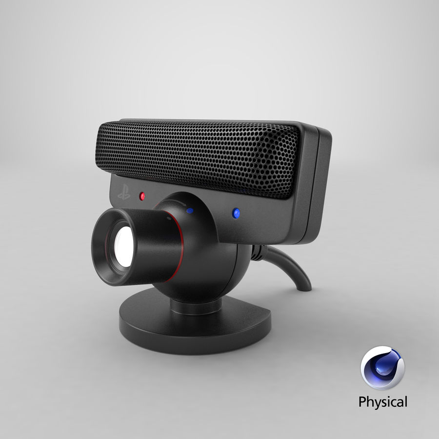 Sony PlayStation 3 Camera Eye royalty-free 3d model - Preview no. 19
