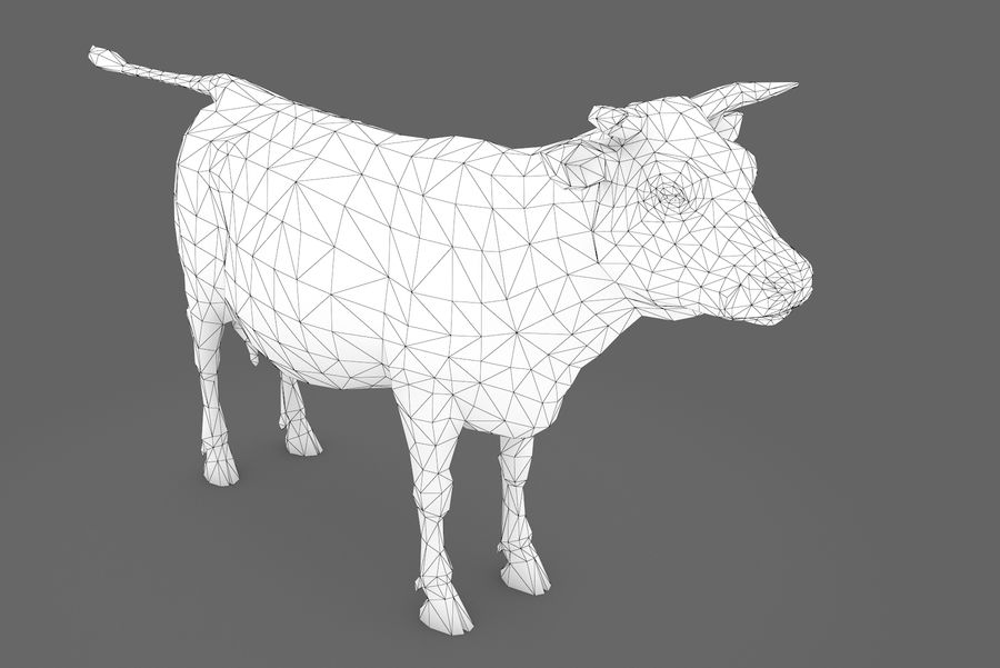 Typ krowy 01 A royalty-free 3d model - Preview no. 15