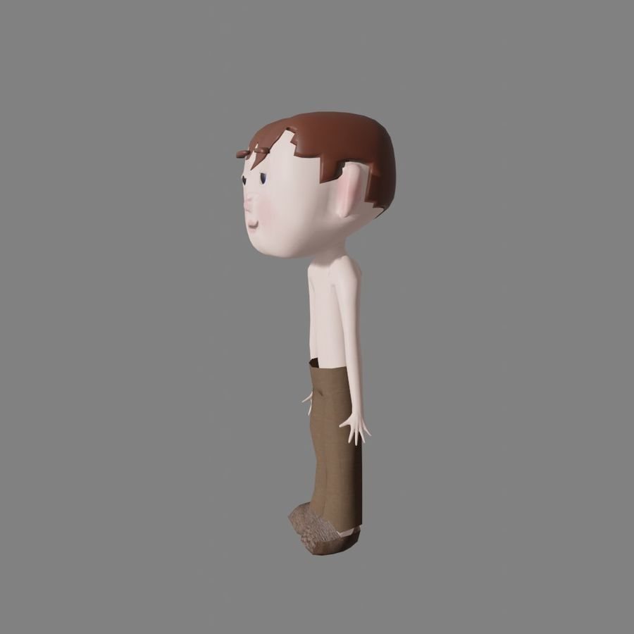 Cartoon Boy Character Rigged royalty-free 3d model - Preview no. 5