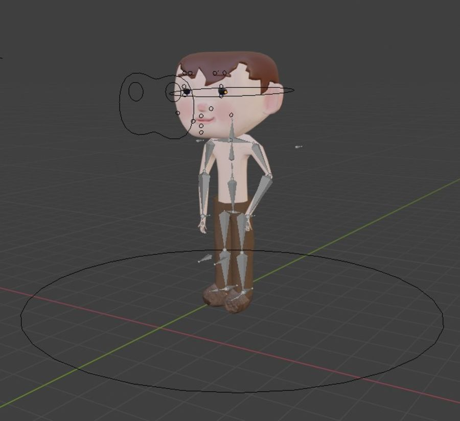 Cartoon Boy Character Rigged royalty-free 3d model - Preview no. 9