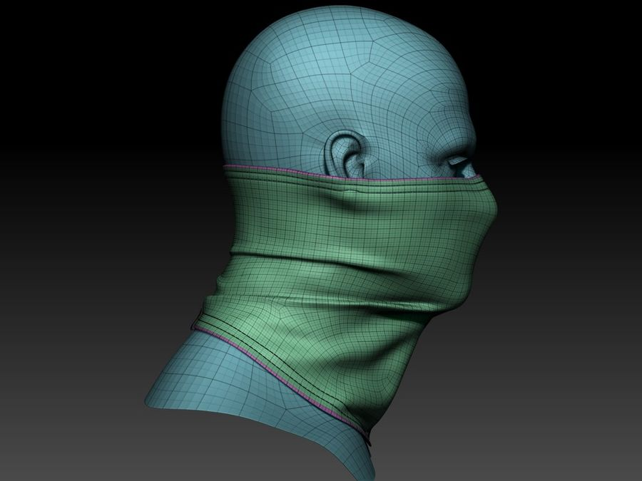巴拉克拉法帽 royalty-free 3d model - Preview no. 10
