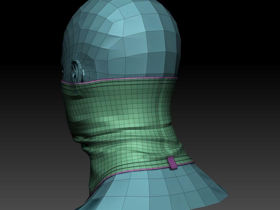巴拉克拉法帽 royalty-free 3d model - Preview no. 16