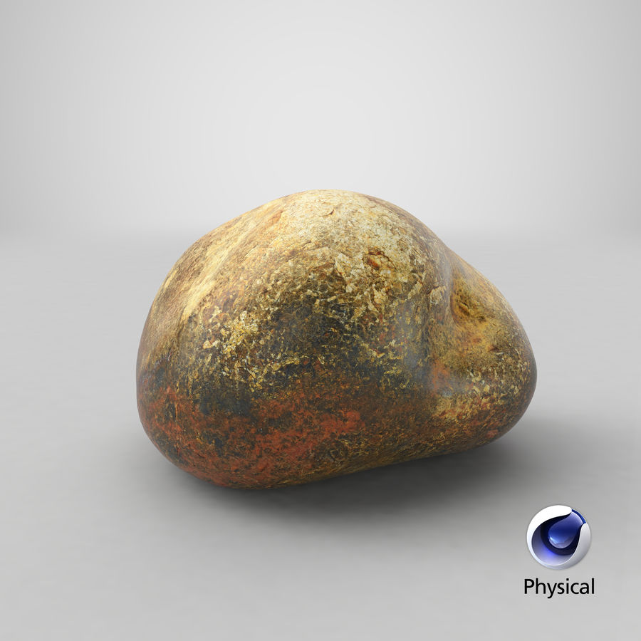 Smooth River Rock 01(1) royalty-free 3d model - Preview no. 23