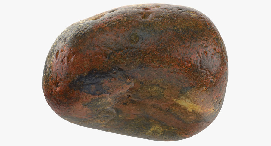 Smooth River Rock 01(1) royalty-free 3d model - Preview no. 9