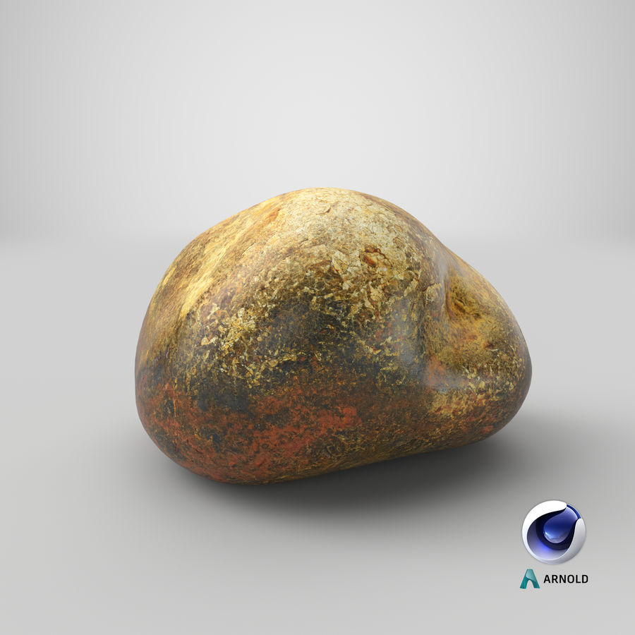 Smooth River Rock 01(1) royalty-free 3d model - Preview no. 24