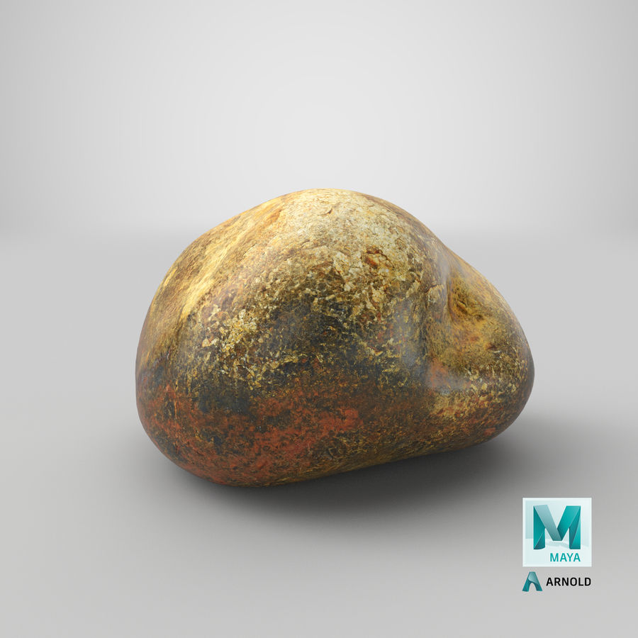 Smooth River Rock 01(1) royalty-free 3d model - Preview no. 28