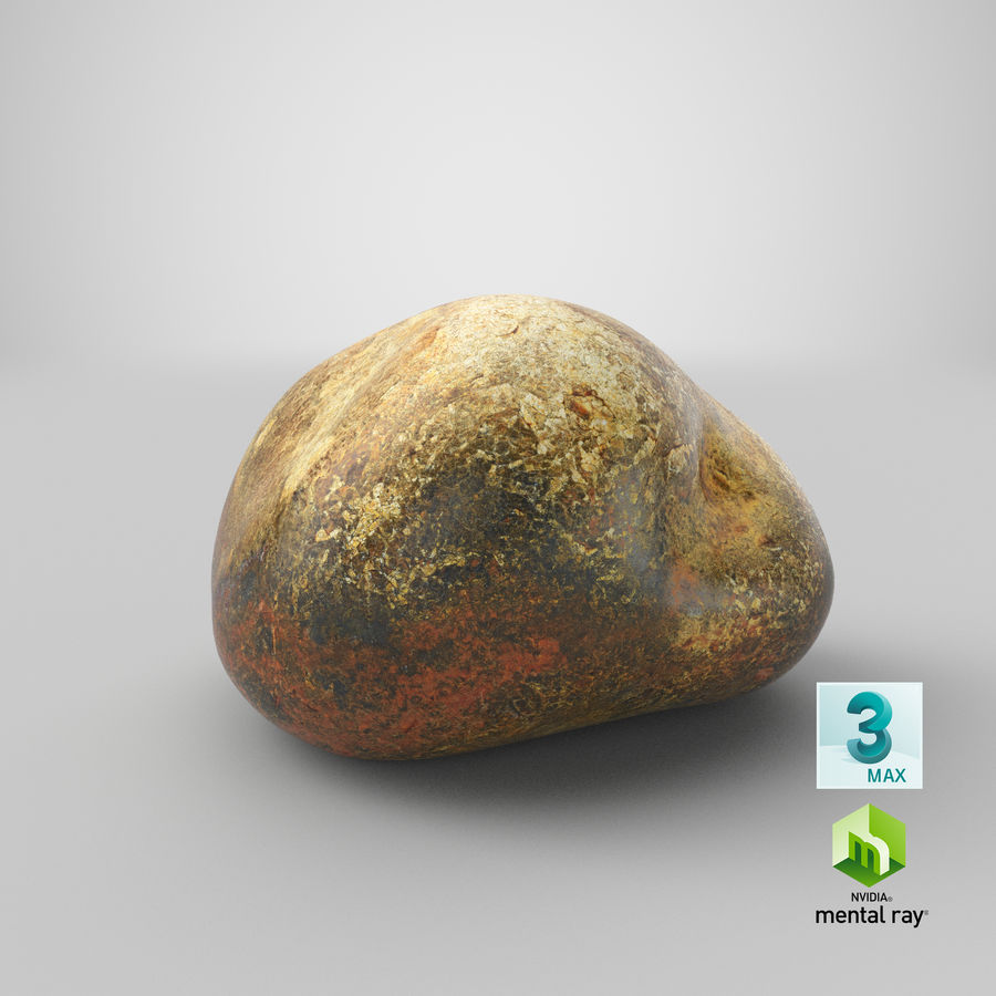 Smooth River Rock 01(1) royalty-free 3d model - Preview no. 26