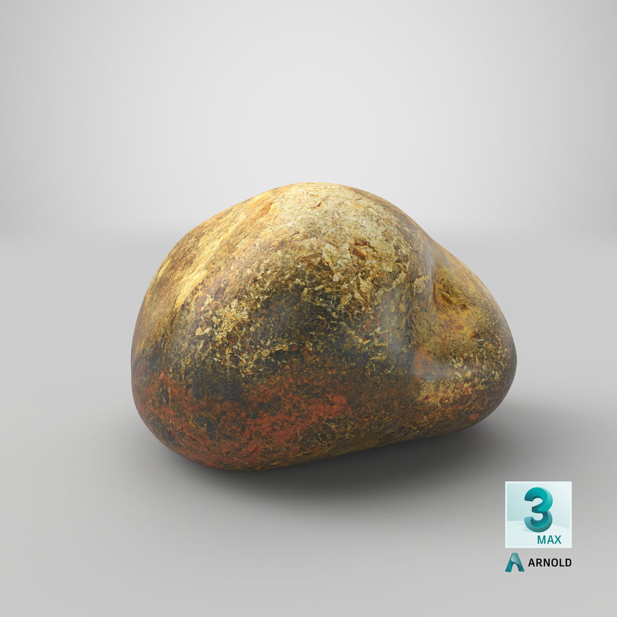 Smooth River Rock 01(1) royalty-free 3d model - Preview no. 25