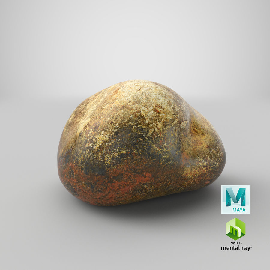 Smooth River Rock 01(1) royalty-free 3d model - Preview no. 29